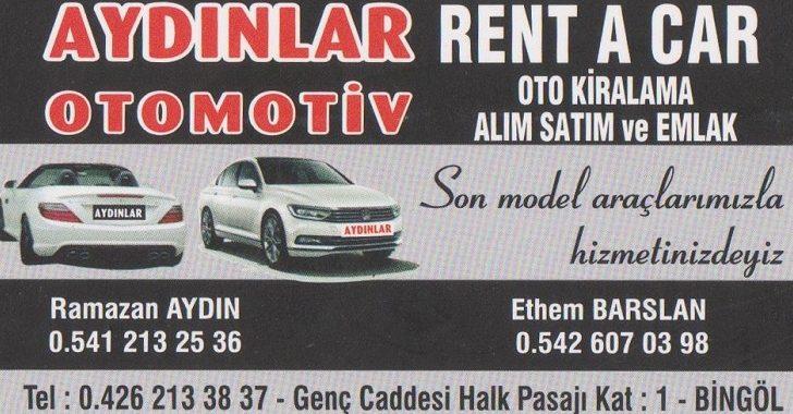 AYDINLAR OTOMOTİV RENT A CAR