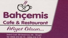 BİNGÖL BAHÇEMİS CAFE RESTAURANT